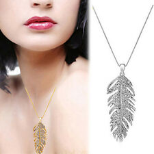 Gold/Silver Plated Feather Angel Wing Pendant Necklace Women Bib Chain Jewelry