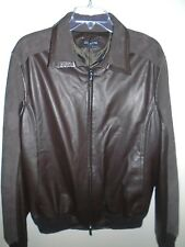 Kiton Leather Jacket with Perforated Suede Sleeve NWT EU size 50 US Medium $9195