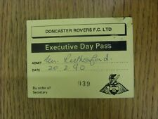 20/02/1990 Ticket: Football League Trophy Northern Semi-Final, Doncaster Rovers