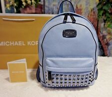 NWT MICHAEL KORS Jet Set Item XS STUDDED Backpack Pebbled Leather PALE BLUE $328