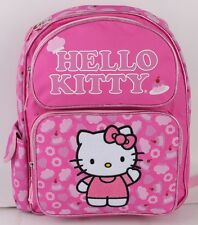 "New  Hello Kitty Pink Cake 14"" Full Size Girls' Backpack Kids School Book Bag"