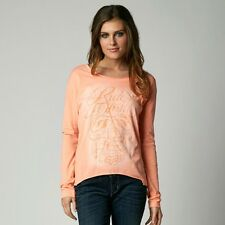 $36 Fox Racing Women's Reborn Long Sleeves Tee In Orange Size M