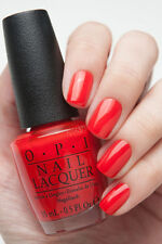 New OPI Gwen Holiday ~FASHION A BOW~ Bright Red Orange Nail Polish Lacquer HRF07