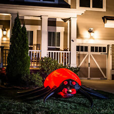 8' Animatronic Lighted Spider Halloween Yard Inflatable - Airblown Yard Decor