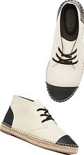 WITCHERY DESIGNER LEATHER Espadrille Boot Flat Shoes NEW Sz 40