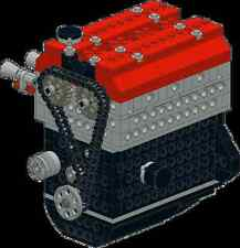Lego Engine Toyota 4AGE 16 valves. INSTRUCTIONS ONLY, in PDF.
