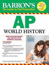 Barron's AP World History, 5th Edition by John McCannon (2012, Paperback,...