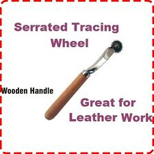 Stitch Spacing Tool for Leather Work - Sewing Tracing Overstitch Wheel Wooden