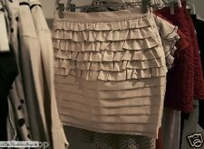 BNWT H&M Cotton blend ruffled tiered skirt US 6 EUR 36 XS