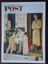POSTCARD ADVERT SATURDAY EVENING POST F/PAGE  DATED  29 JAN 1955  - THE JOY OF P