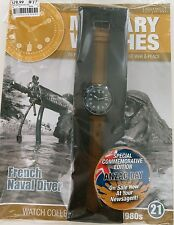 EAGLEMOSS MILITARY WATCHES. FRENCH NAVAL DIVER 1980's ISSUE 21. UNOPENED / MINT