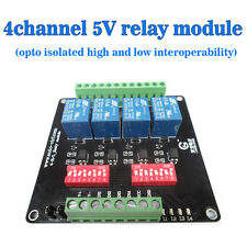 DC5V 4 Relay Module Four Road Light Coupling Isolation Of High Low Level