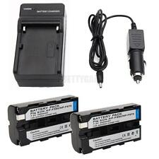 2pcs NP-F550 NPF550 Li-ion Battery + Charger for Sony Digital8 DCR-TRV120 TRV110