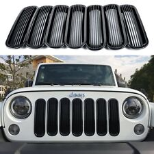 2007-2016 Jeep Wrangler Vertical Style Black Bars Grill Inserts New Free Ship