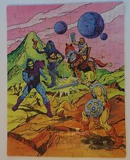 Complete VTG 1984 MASTERS OF THE UNIVERSE PUZZLE 100+ Pc HE-MAN SKELETOR Golden