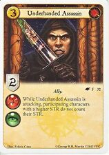 3 x Underhanded Assassin AGoT LCG 1.0 Game of Thrones The Winds of Winter 32