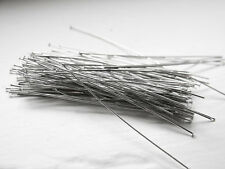 100pcs Rhodium Tone Base Metal Head Pins-76mm (3 Inch) (XL) (I-360)