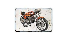 Aermacchi Hd250 23 Motorbike Sign Metal Retro Aged Aluminium Bike
