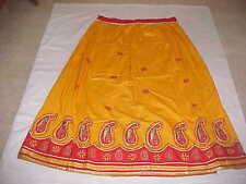 MUSTARD Yellow Gold DAZZLING Skirt Sari Fine BANJARA Lengha BALLROOM Belly DANCE