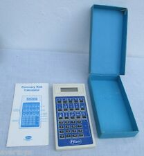 VINTAGE SUPER RARE PFIZER CARDIAC RISK CALCULATOR, WORKING!!!, IN BOX & MANUAL