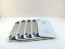 LOT OF 5x WHITE iPHONE 4S A1387 BACK GLASS REAR DOOR BATTERY COVER PLATE MINT US