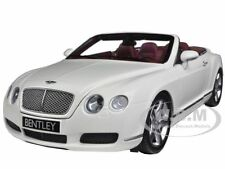 2006 BENTLEY CONTINENTAL GTC WHITE 1/18 MODEL CAR BY MINICHAMPS 100139032