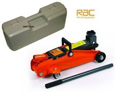 HEAVY DUTY RAC 2 TONNE TON HYDRAULIC FLOOR TROLLEY JACK CAR VAN IN CASE