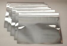 25 Silver/Clear (11x8.5) Foil Pouches Mylar Ziplock Bags, Food Grade Smell Proof