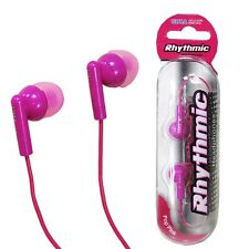 RHYTHMIC PINK EARPHONES MP3 PLAYER IPOD 3.5MM JACK ULTRA MAX