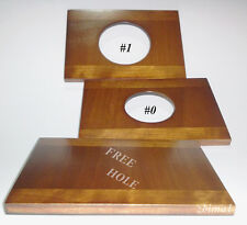 "1 Wooden Lens Board  3.75 x 2.73"" for Gandolfi, Solid Cherry #0, or #1&undrilled"