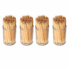300pcs 2 Holder WOODEN TOOTHPICKS TOOTH PICKS FRUIT CHERRY COCKTAIL STICKS UK