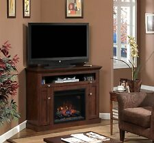 "ClassicFlame 23DE9047-PC81 Windsor TV Stand for TVs up to 45"", Antique Cherry"