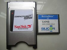 SiliconDrive  64MB Compact Flash +ATA PC card PCMCIA Adapter JANOME Machines