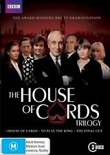 House Of Cards Trilogy (DVD, 2011, 3-Disc Set)  Brand new, Genuine & Sealed D69