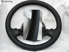 FOR TOYOTA COASTER BUS 1981-1996 BLACK ITALIAN LEATHER STEERING WHEEL COVER