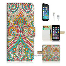 iPhone 6 / 6S (4.7') Flip Wallet Case Cover! P0023 India Damask