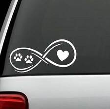 D1108 Paws Heart Infinity© Dog Cat Decal Sticker