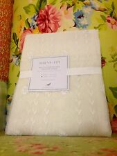 NWT SERENA & LILY BELLA EMBROIDERED SHEER WHITE LACE WINDOW PANEL 42x96 NEW