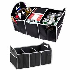 Boot Tidy Duty Collapsible Foldable Storage Box 3 Section Car Trunk Organizer