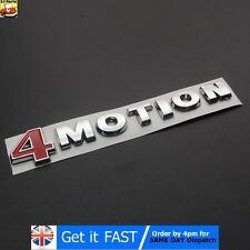 4Motion VW Badge Emblem Logo Chrome ABS Sticker Passat Touareg Golf Polo
