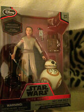 Star Wars  elite series  Rey with lightsaber  and BB-8  die-cast  figure set