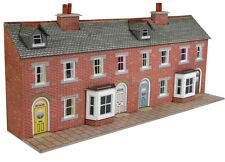 Metcalfe PN174 - Brick Terrace House Fronts Die Cut Card Kit N Gauge - 1st Class