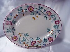 "Churchill China Briar Rose 12"" Oval Serving Platter Made In England"