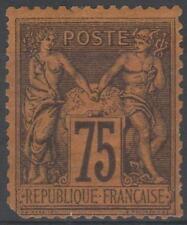 """FRANCE STAMP TIMBRE N° 99 """" SAGE 75c VIOLET SUR ORANGE """" NEUF x A VOIR ..."""