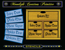 Halloween Stencil~5 SPELL INGREDIENT TITLES~Each Title is 1 1/8 inches high