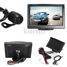 "Car Rear View System Kit Backup Reverse Camera Night Vision + 5"" HD LCD Monitor"