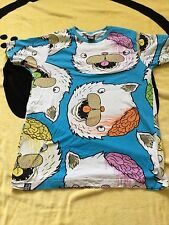 DROP DEAD CLOTHING KITTY BRAINZ BLUE T SHIRT TSHIRT MENS UNISEX SMALL S