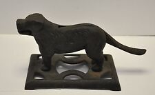 Antique Cast Iron Labrador / Newfoundland Dog Nutcracker Nut Cracker Doorstop