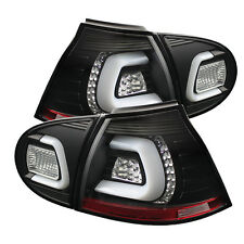 Volkswagen 06-09 GTI R32 Rabbit Black LED Rear Tail Lights Lamp Set