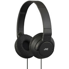 JVC HA-S180-B High Quality Sound Reproduction with Deep Base Headphones - BLACK